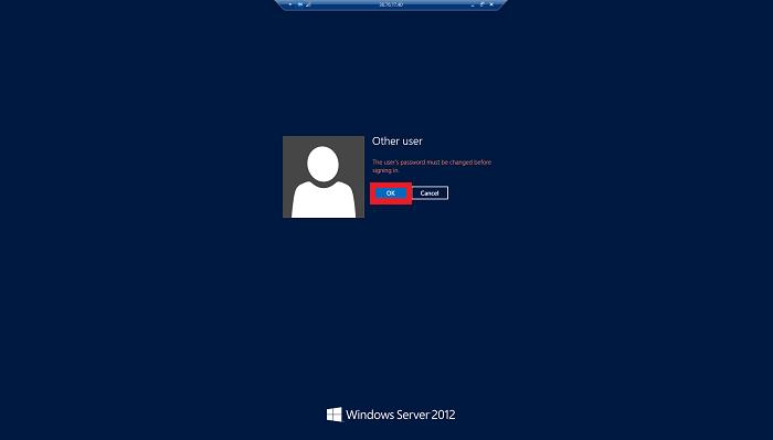 新規パスワード設定画面