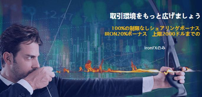 IronFXのキャンペーン画像