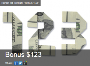 $123ボーナス