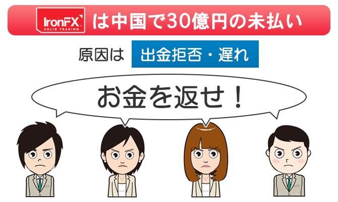 IronFXグループの中国法人は30億円の未払いを起こしてデモ騒ぎになった
