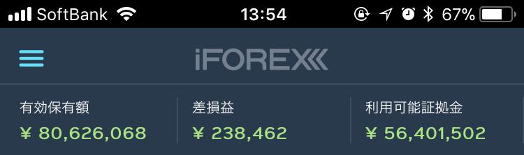 取引開始後20日で口座残高は100万円から8000万円に増加
