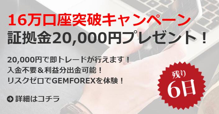 GEMFOREXは口座開設数16万人を突破
